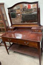 An Edwardian mahogany dressing table,