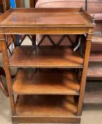 A Victorian rosewood whatnot,