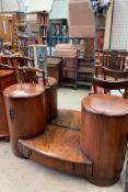A 20th century walnut dressing table,