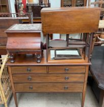 An Edwardian mahogany dressing chest, with two short and two long drawers on square tapering legs,