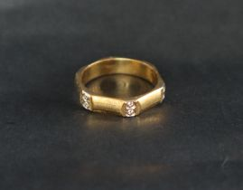 An 18ct yellow gold ring,