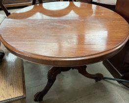 A Victorian mahogany supper table,