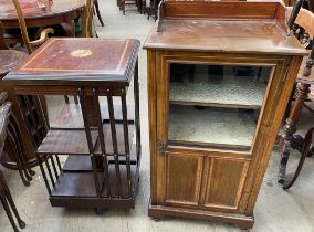 An Edwardian mahogany music cabinet, 53.5cm wide x 36cm deep x 96.