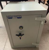 A Dudley Safes Ltd Mk.2 safe, with three keys, 45.5cm wide 45.