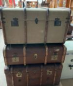 An Atlas three ply banded trunk,