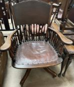 An Angus of London type office chair,