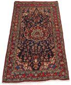 Very Fine Vintage Hand Knotted Sarouk Carpet