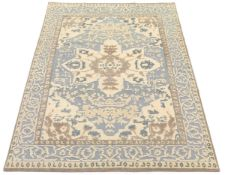 Fine Hand-Knotted Moroccan Design Sculpted Carpet