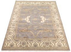 Fine Hand-Knotted Oushak Carpet
