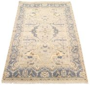 Very Fine Hand-Knotted Oushak Carpet