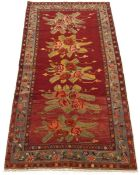 Rare Fine Antique Hand-Knotted Caucasian Karabakh Pictorial Carpet, ca. 1930's