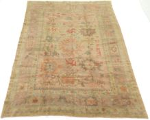 Very Fine Antique Hand-Knotted Oushak Carpet, ca. 1930's