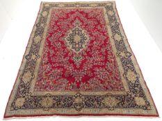 Very Fine Semi-Antique Hand-Knotted Lavar Kerman Carpet, ca. 1960's