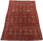 Rare Very Fine Antique Hand-Knotted Oushak Carpet, ca. 1930's