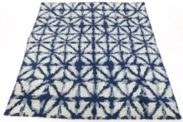 Hand-Knotted Lush Mid-Century Modern Style Carpet