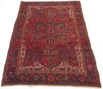 Fine Antique Hand-Knotted Heriz Carpet