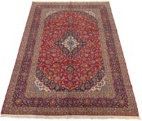 Very Fine Semi-Antique Hand-Knotted Kashan Carpet