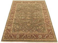 Very Fine Hand-Knotted Tabriz Olive Carpet
