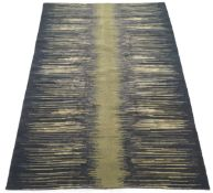Very Fine Hand-Knotted MCM Design Silk and Wool Carpet