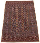 Very Fine Semi-Antique Hand-Knotted Turkoman Carpet