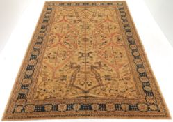 Very Fine Hand-Knotted Golden Serapi Carpet