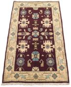 Fine Hand-Knotted Kashmar Khorasan Carpet