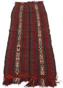Vintage Hand Knotted Soumak Kilim Wide Runner/Carpet