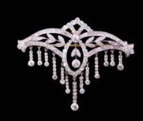 BELLE EPOQUE DIAMOND DROP BROOCH