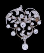 BELLE-EPOQUE DIAMOND BROOCH