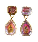 ANTIQUE PAIR OF STUART CRYSTAL EARRINGS