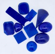 MIXED LOT OF LOOSE LAPIS LAZULI, approx 105 ct.