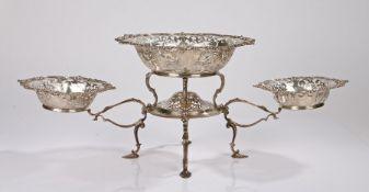Edward VII silver table centrepiece, Sheffield 1904