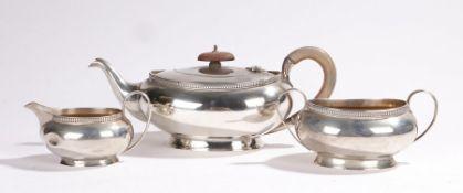 George V silver tea set, Birmingham 1932