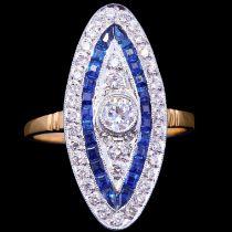 SAPPHIRE AND DIAMOND DRESS RING