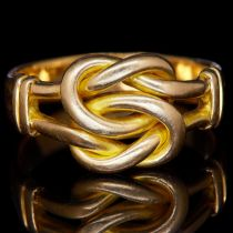 -NO RESERVE- ANTIQUE TWISTED KNOT RING