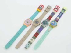 Swatch - Armbanduhren4 St., Schweiz, versch. Ausführungen, Fkt. ungepr., im OK