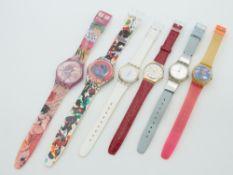 Swatch - Armbanduhren 6 St., Schweiz, versch. Ausführungen, 1x fkt.tüchtig, 5x Fkt. ungepr.,