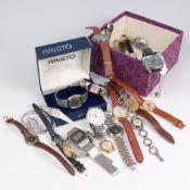 Armbanduhren zahlreich, Stowa, Anker, Pulsar u.a., tlw. besch., tlw. unvollst., tlw. o. Armband, in