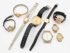 Armbanduhren9 St., Timex, Anker u.a., tlw. fkt.tüchtig, tlw. besch., tlw. o. Armband