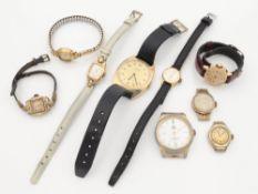 Armbanduhren 9 St., Timex, Anker u.a., tlw. fkt.tüchtig, tlw. besch., tlw. o. Armband