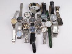 Herrenarmbanduhren ca.15 St., versch. Marken, tlw. o. Armband, Fkt. ungepr., tlw. besch., in