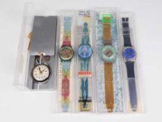 Swatch - Armbanduhren4 St, Schweiz, versch. Ausführungen, Fkt. ungepr., im OK, dazu 1