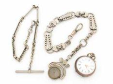 DamentaschenuhrSi 800, Lepine-Gehäuse, Dca.2,8cm, weißes Emailzifferblatt, röm. Zif