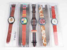 Swatch - Armbanduhren5 St, Schweiz, versch. Ausführungen, 2x Automatic, fkt.tüchtig,