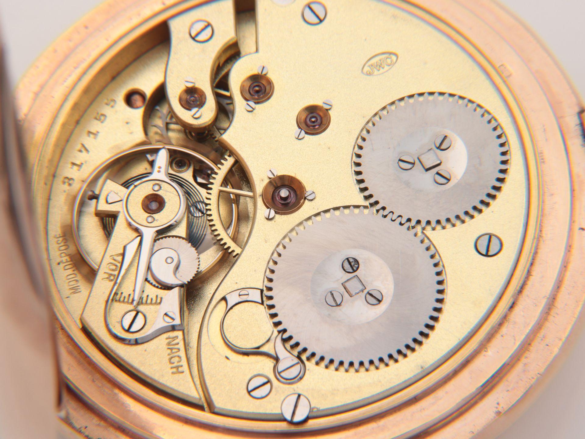 IWC – Herrentaschenuhr Gelbgold 585, 14Kt, Savonette, Dca.5cm, weißes Emailzifferbl - Image 4 of 22