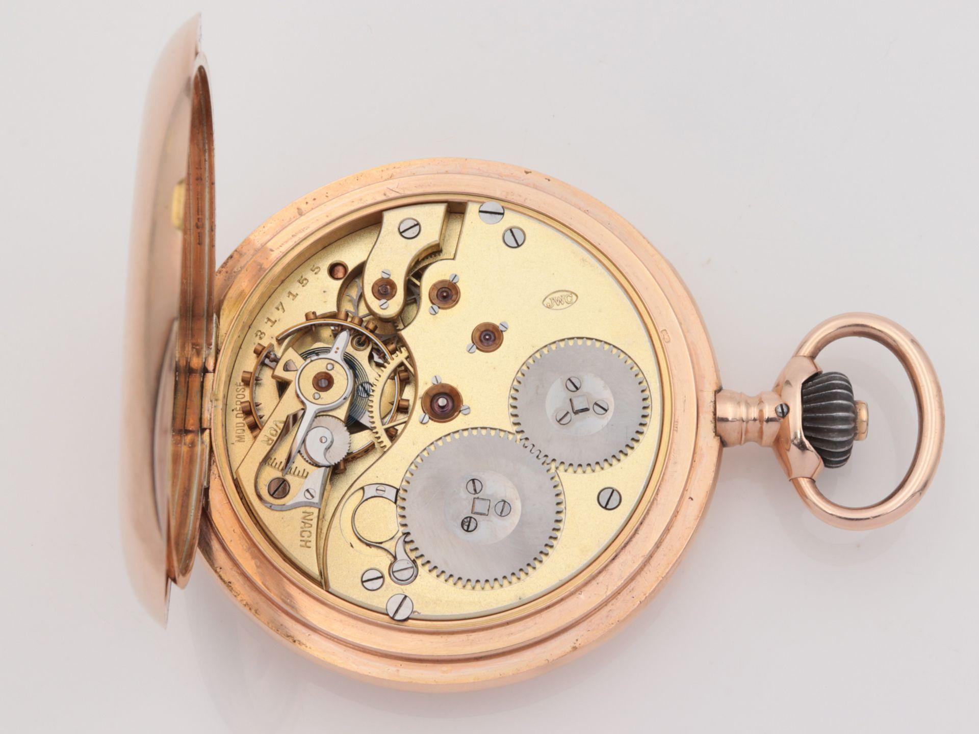 IWC – Herrentaschenuhr Gelbgold 585, 14Kt, Savonette, Dca.5cm, weißes Emailzifferbl - Image 13 of 22