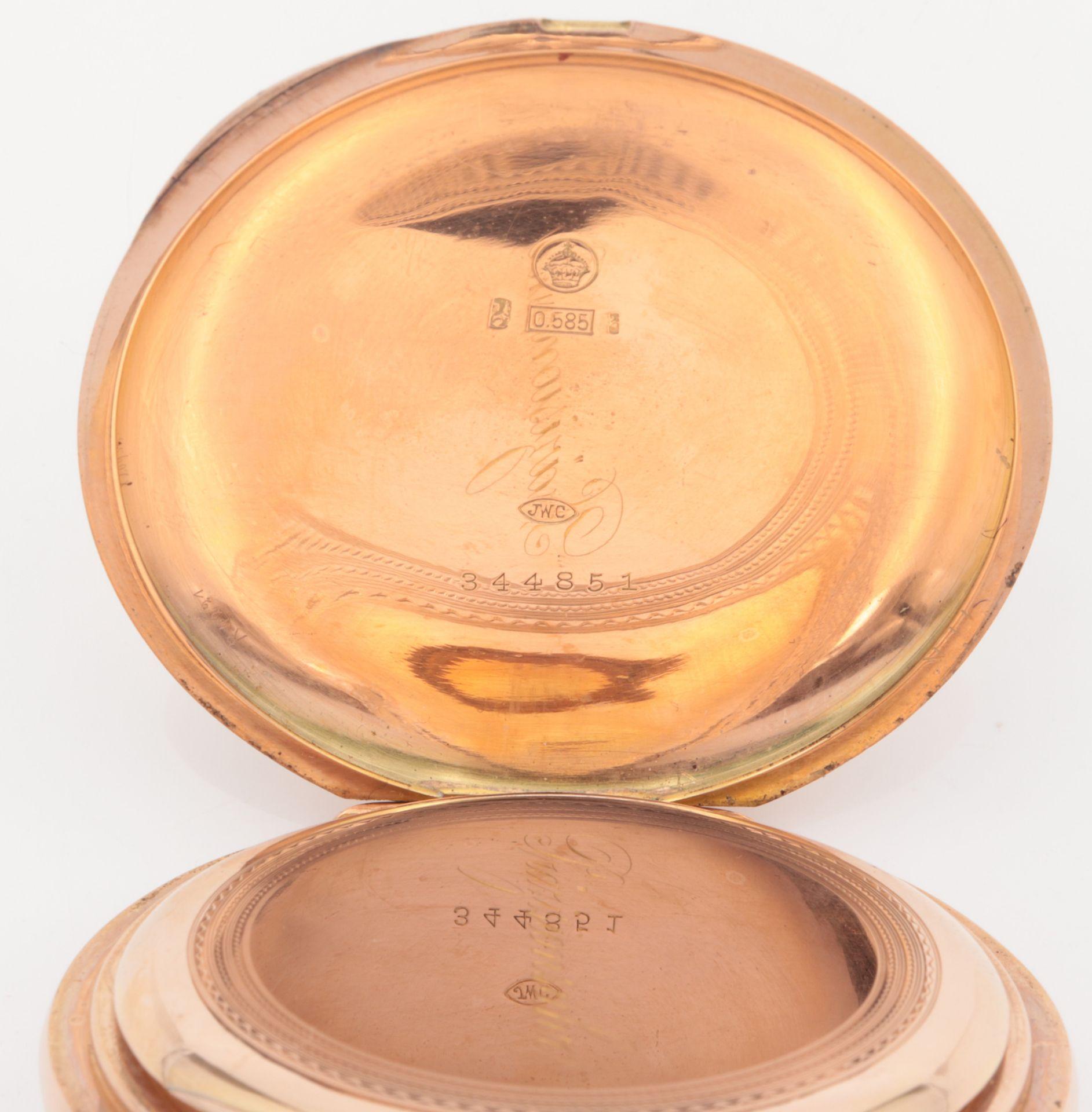 IWC – Herrentaschenuhr Gelbgold 585, 14Kt, Savonette, Dca.5cm, weißes Emailzifferbl - Image 16 of 22