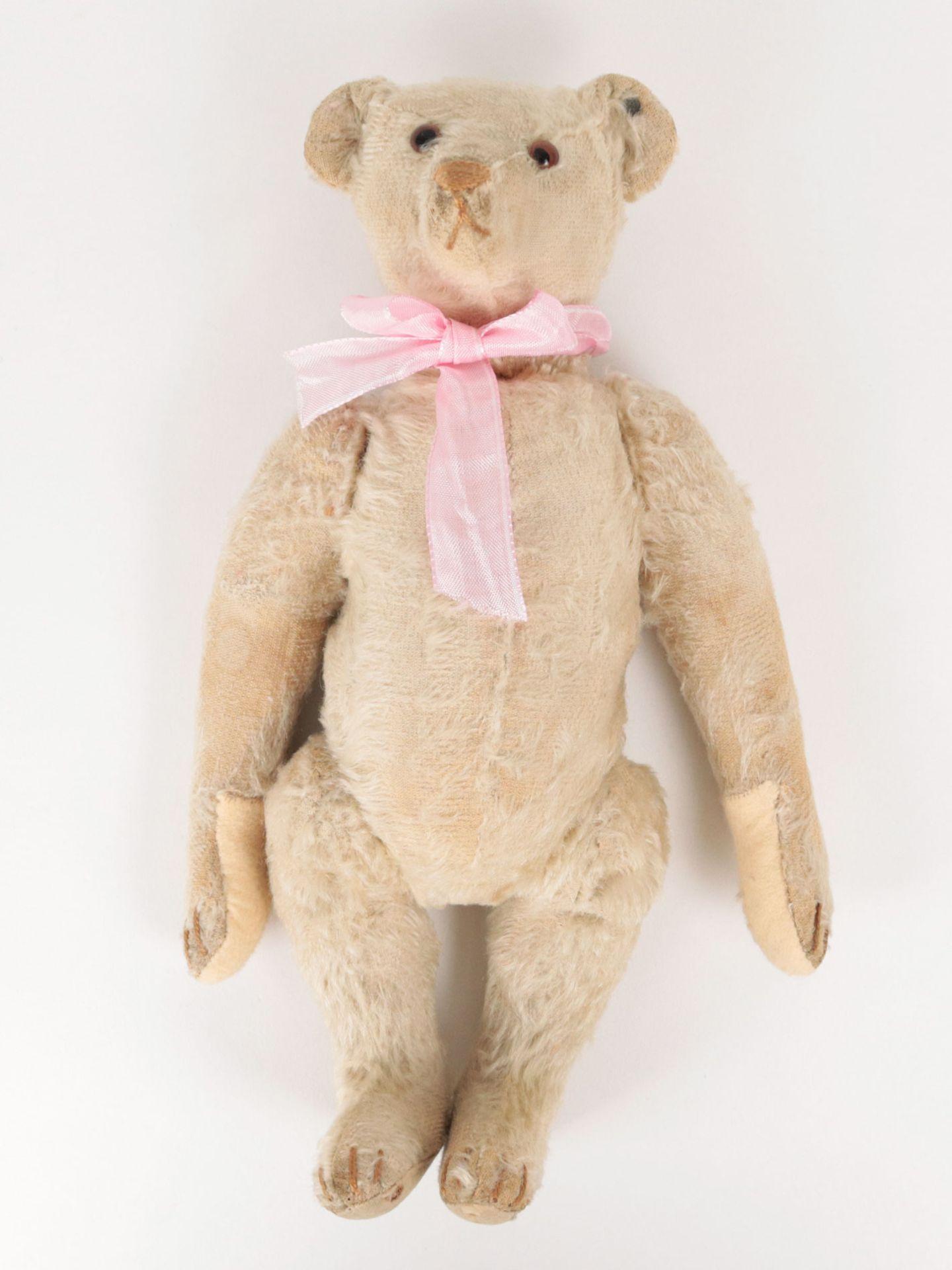 Steiff – Teddybär um 1930, Knopf im Ohr (mit heruntergezogenem 'f'), heller Mohairb - Image 5 of 7