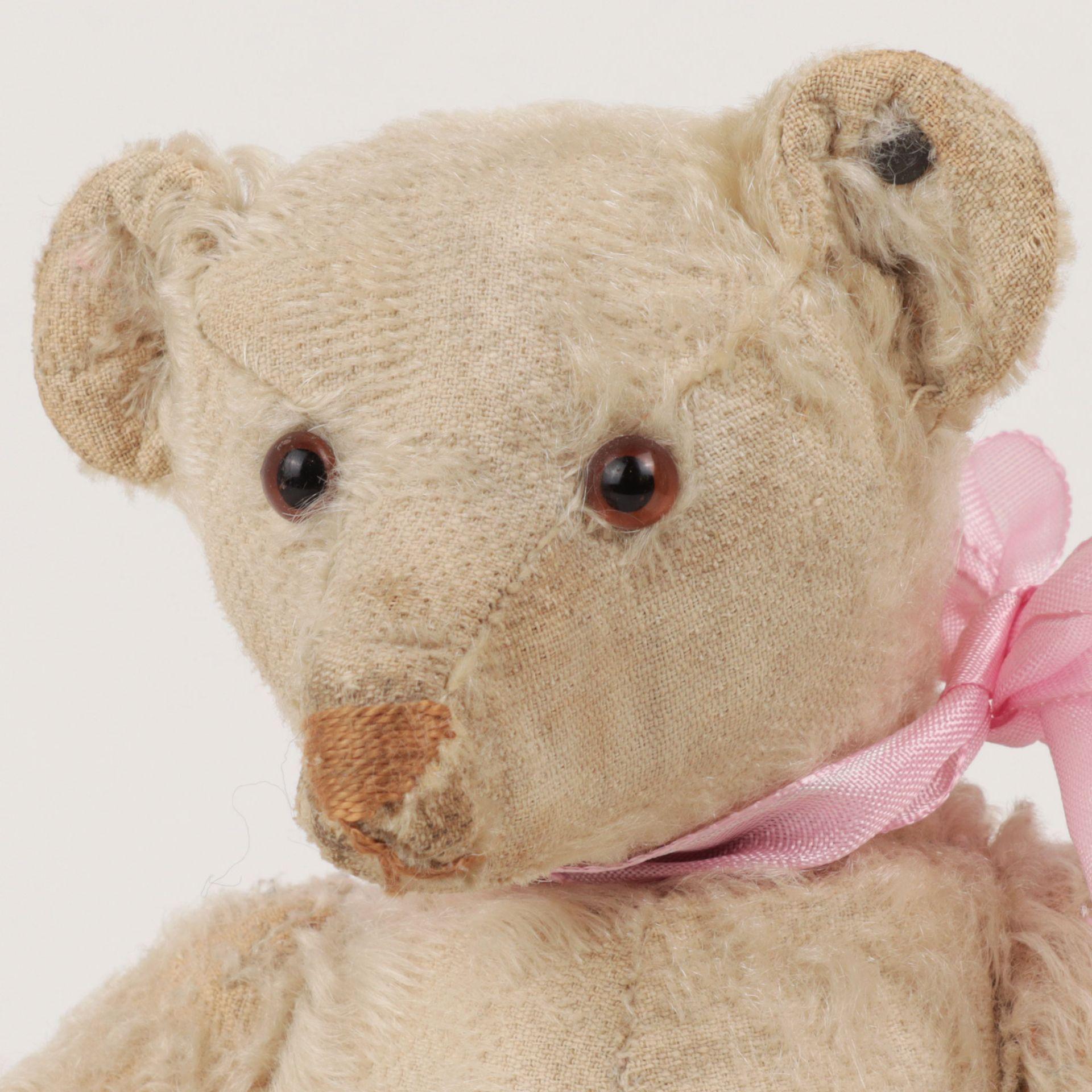 Steiff – Teddybär um 1930, Knopf im Ohr (mit heruntergezogenem 'f'), heller Mohairb - Image 2 of 7