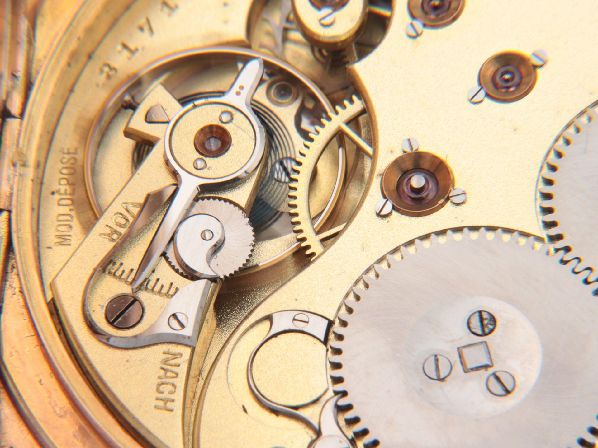 IWC – Herrentaschenuhr Gelbgold 585, 14Kt, Savonette, Dca.5cm, weißes Emailzifferbl - Image 3 of 22